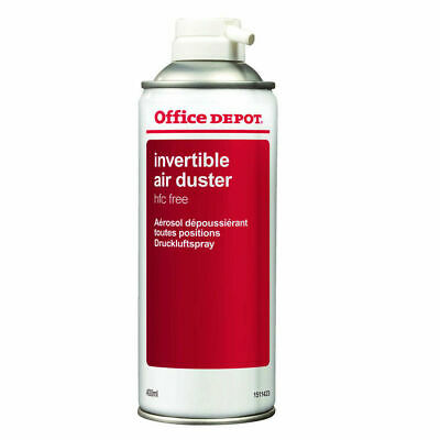 Office Depot Compressed Air Duster Spray Can Laptop Keyboard Cleaner 400ml • 7.97£
