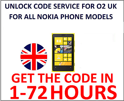Unlock Code Service For Nokia Lumia Microsoft O2 UK 550 640 650 950 1320 • 2.99£