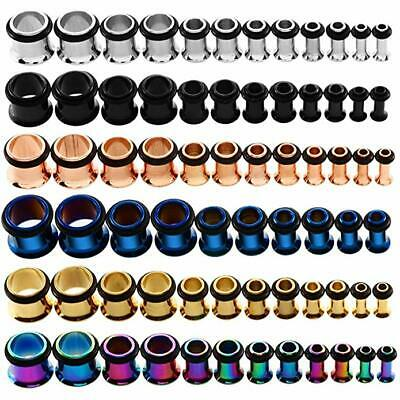 £2.25 • Buy Stainless Steel Single Flare Ear Tunnels O-RING Stretchers Tapers Plug 3-14mm
