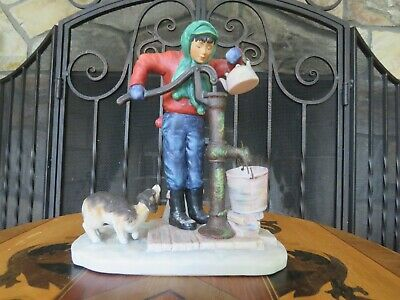 $ CDN77.84 • Buy Gorham Norman Rockwell Four Seasons Winter Chilling Chore First Edition Figurine
