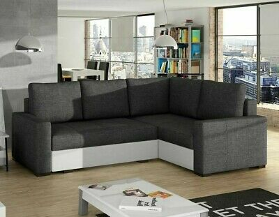 Corner Sofa Bed CORONA With Storage Container Sleep Function Springs New • 425£