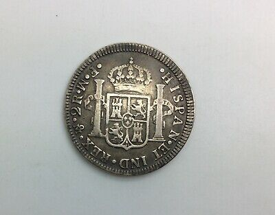 $ CDN158.17 • Buy Mexico 1773 Mo Inverted FM 2 Reales Silver Sharp Pleasing Original Coin