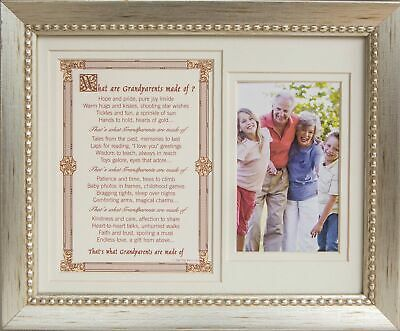 AU33.67 • Buy Grandparent Gift Frame What Are Grandparents Made Of Photo Frame 8X10 For 4X6