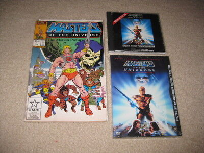 $80 • Buy Masters Of The Universe Lot Movie Comic Adaptation/CD Soundtrack/DVD/Poster