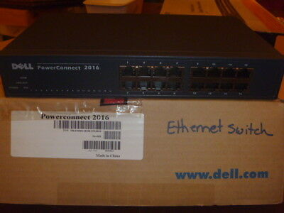 $13.95 • Buy Dell Power Connect 2016 Ethernet Switch