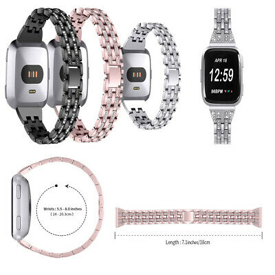 $ CDN23.49 • Buy Fancy Fashion Replacement Crystal Metal Watch Band Wrist Strap For Fitbit Versa