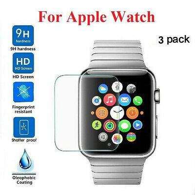 $ CDN11.99 • Buy 3-PACK Tempered Glass Screen Protector For Apple Watch ( Series 1/2/3) 38mm/42mm