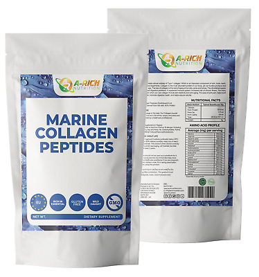 £14.99 • Buy Marine Collagen Peptides Powder 10,000mg Hydrolysed Wild Caught Amino Acids