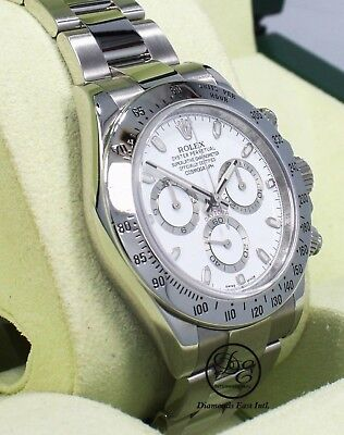 $ CDN29367.55 • Buy Rolex Daytona 116520 Cosmograph Steel Oyster White Dial Watch Mint Box Papers