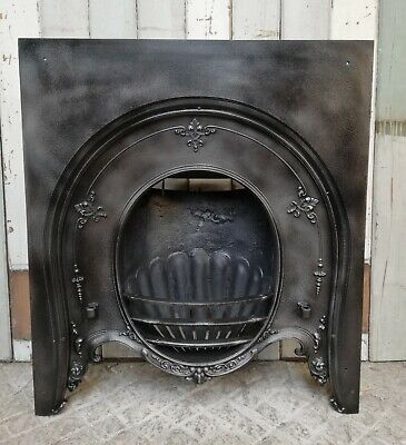 VICTORIAN HORSESHOE STYLE ANTIQUE CAST IRON FIRE INSERT - 2 AVAILABLE Ref FI0033 • 475£