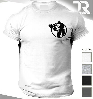 Men's Gym T Shirt Gorilla Gains Bodybuilding Top Trainer Mma Ufc Sports Clothing • 9.99£