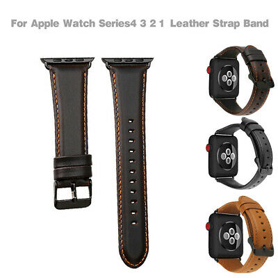 $ CDN21.49 • Buy 100% Brand New For Apple Watch Series4 3 2 1 Leather Strap Band Bracelet 42mm
