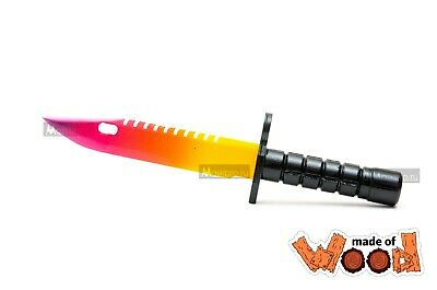 $ CDN19.94 • Buy CS:GO Wooden Knife M9 Bayonet Fade 11-110