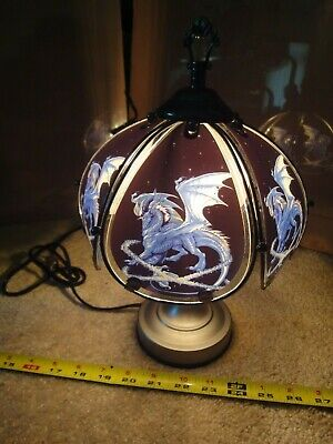 Mythical Glass Dragon, Desk, Table Lamp. Touch Operated Night Light. Nice! • 48.94£