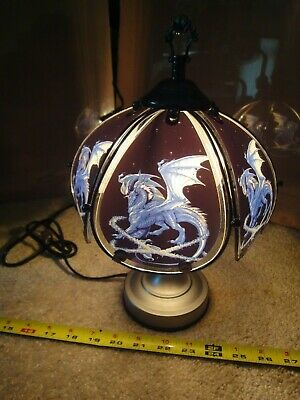 Mythical Glass Dragon, Desk, Table Lamp. Touch Operated Night Light. Nice! • 43.71£