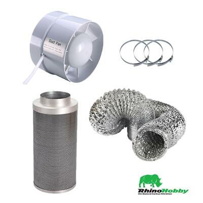 Hydroponics Rhino Hobby Carbon Filter Kit 4  125/300mm Filter Extraction Fan  • 63.14£