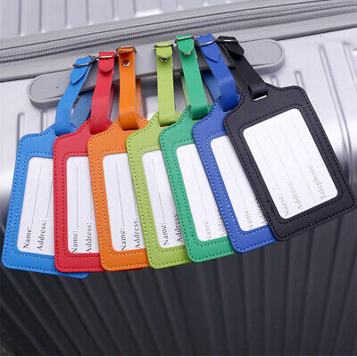 £1.59 • Buy Tags Suitcase Leather Luggage ID Card Name Label Baggage Travel Address Holder