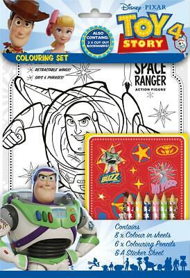 Disney Pixar Toy Story 4 Colouring Set Childrens Activity Stickers Party Gift • 2.10£