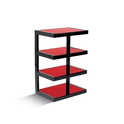 Norstone ESSE HiFi Rack / Stand/ AV Furniture In Black/Red With 4 Shelves • 199.99£