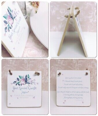 £1.99 • Buy Wedding Place Cards Table Name Settings Wooden Personalised Thank You Favours
