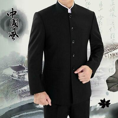 $74.20 • Buy Men's Slim Fit Single Breasted Jackets Chinese Tunic Suit Formal Casual Coat Top
