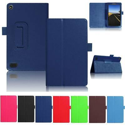 For Amazon Kindle Fire 7 2017 2015 Flip Smart Thin PU Leather Case Cover Stand • 6.82£