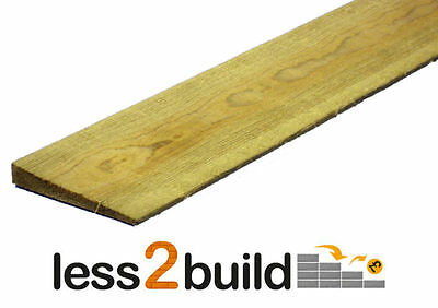 Treated Feather Edge Fencing Weather Board 125mmx1.8m Lengths Pack 10 • 27.07£