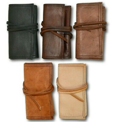 100% Organic Leather Brown Tobacco Pouch Pouches Bag Case Wallet Tin *handmade* • 19.99£