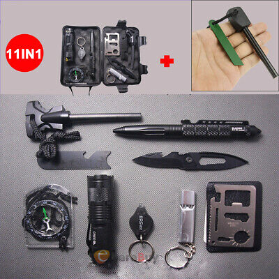 $16.99 • Buy 11 In 1 EDC Outdoor Camping Military Survival Gear Kits Box Emergency Kit Tool