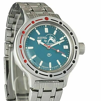$ CDN93.78 • Buy Vostok Amphibian 420059 Watch Scuba Dude Military Diver Russian Automatic Blue