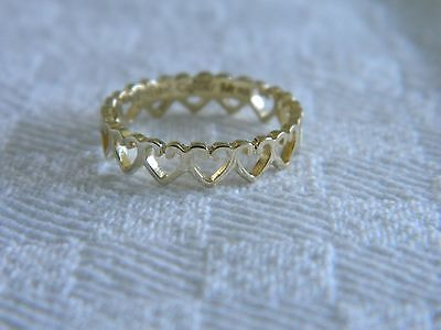 Clogau 18ct Yellow Welsh Gold Heart Affinity Stacking Ring Size K • 350£