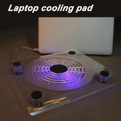 10 -15  Laptop Cooling Pad Blue LED Notebook 1 Fan USB Cooler Stand Tray • 9.97£