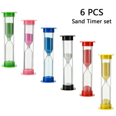 AU12.63 • Buy 6 X Hourglass Sand Timer SET-30Second 1 2 3 5 10Minute Transparent Sandtimer