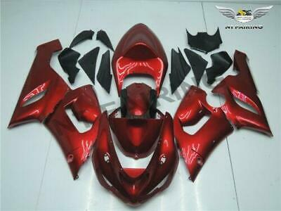 $569.99 • Buy Injection Kit Fairing Fit For Kawasaki ZX6R 636 ZX-6R 2005-2006 05 06 Red S003