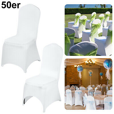 £55.99 • Buy 100 Flat Arched Front Cover Spandex Lycra Chair Cover Wedding Party Decor Xmas