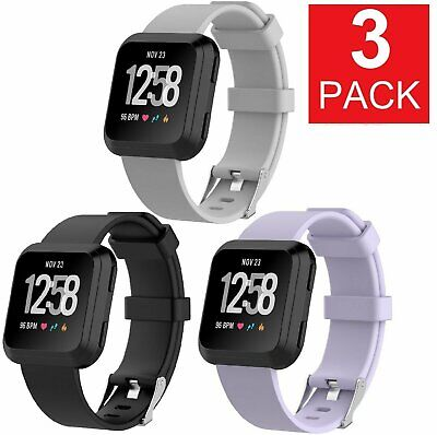 $ CDN9.39 • Buy 3 PACK  For Fitbit Versa Replacement Bands Smart Watch Sport Band 3 PACK