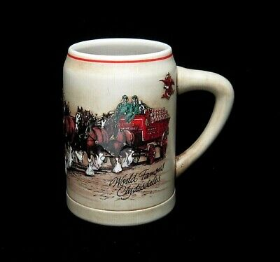 $ CDN25.05 • Buy 1987 Budweiser World Famous Clydesdales Holiday Stein Mug