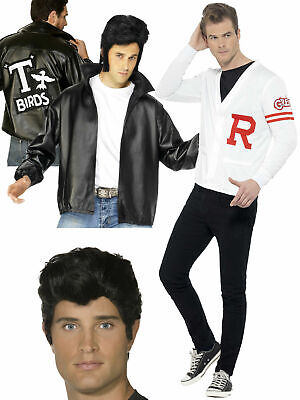 Mens Official Grease Jacket Wig T-Birds Adults 50's Danny Fancy Dress Costume • 18.95£