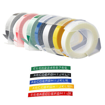 £5.99 • Buy Embossing Label Tape Marker For Dymo Compatible 9mm X 3m Matt Colour