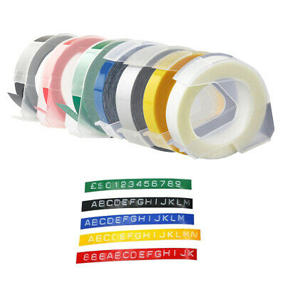 UK Embossing Label Tape Compatible 9mm X 3m For Dymo 12814 17266 5500B 1540 • 7.99£