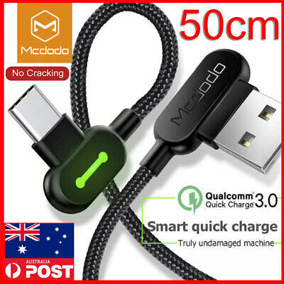 AU8.89 • Buy Portable 50cm Short USB C Type-C Fast Charger Cable Samsung Galaxy S10 S9 Note10