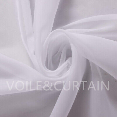 £2.30 • Buy White Voile Fabric By The Meter 150,210 And 300cm Wedding Event Ceiling Drapes