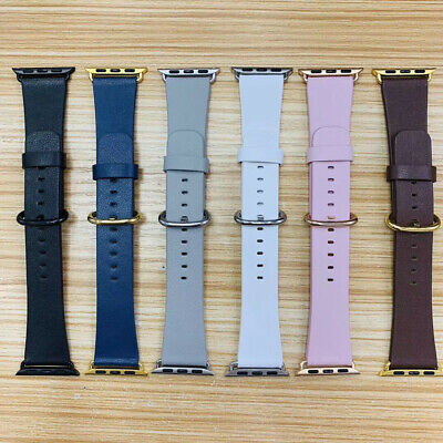 $ CDN12.30 • Buy 40/44mm Soft Leather Strap Wrist Band For Apple Watch Series 6 5 4 3 2 IWatch SE