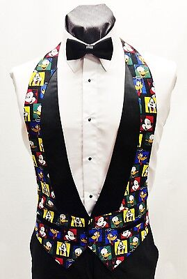 Men/'s Musical Mickey Mouse Tuxedo Vest and Bow Tie Walt Disney Cruise Open Back
