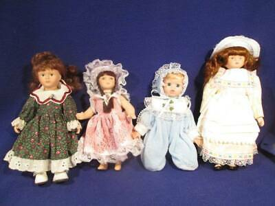 $ CDN13.52 • Buy Dolls ~❤️~ Lot Of 4 Porcelain Little Girl Dolls 7-8