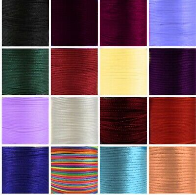 5X Meter Macrame Rattail 3mm Shamballa Cord - Pick Your Colour • 2.29£