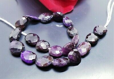 $68 • Buy RARE NATURAL FACETED PURPLE AFRICAN SUGILITE NUGGET BEADS 8-10mm 40.85cts 7