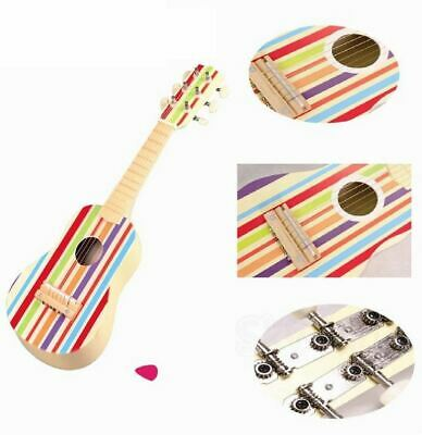 Lelin Children Kids Wooden Striped Stripe Guitar Musical Instrument Toy • 17.99£