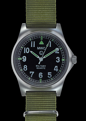 MWC G10 LM Non Date - Military Watch (Olive Strap) • 69.99£