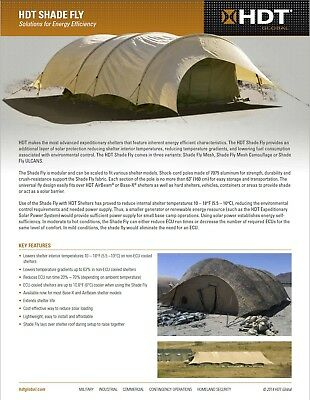 $770 • Buy US MILITARY BASE-X Tent AirBeam Shelter SHADE FLY Commerial Canvas - 22'x55'x10'